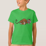 Cartoon Running Tiger Children T-Shirt