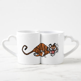 Cartoon Running Tiger Lovers' Mug