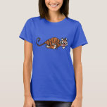 Cartoon Running Tiger Women T-Shirt