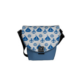 Cartoon Sail Boat Pattern Courier Bag