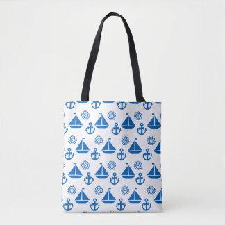 Cartoon Sail Boat Pattern Tote Bag