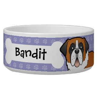 Cartoon Saint Bernard Bowl