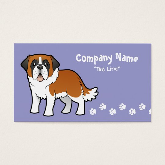 Cartoon Saint Bernard Business Card