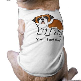 Cartoon Saint Bernard Doggie Shirt