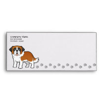 Cartoon Saint Bernard Envelope