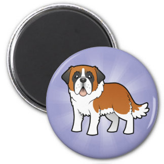 Cartoon Saint Bernard Magnet