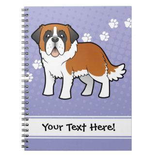Cartoon Saint Bernard Spiral Notebook