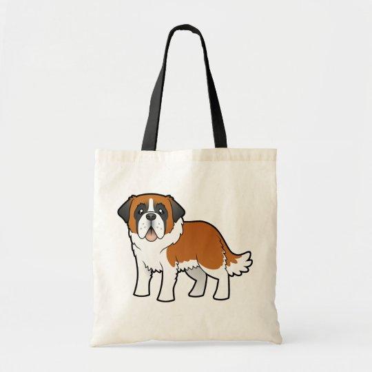 Cartoon Saint Bernard Tote Bag