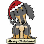 Cartoon Saluki Christmas Ornament Photo Cutouts