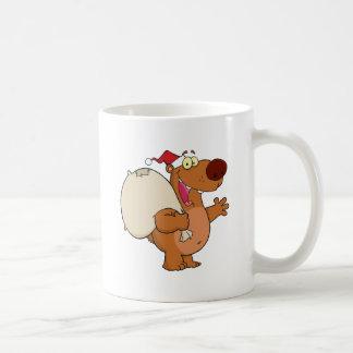 Cartoon Santa Bear Waving A Greeting Coffee Mug