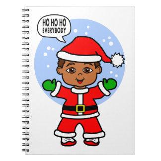 Cartoon Santa Boy Image Notebook