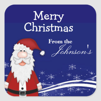 Cartoon Santa Christmas Gift Tags