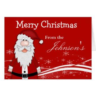 Cartoon Santa Christmas Greeting Card