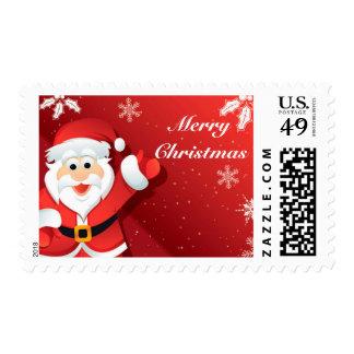 Cartoon Santa Christmas postage
