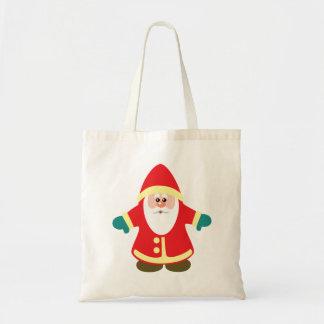 cartoon santa claus budget tote bag