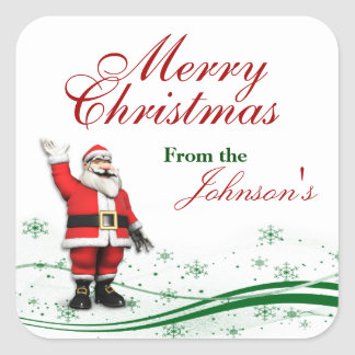 Cartoon Santa Claus Christmas Gift Tags