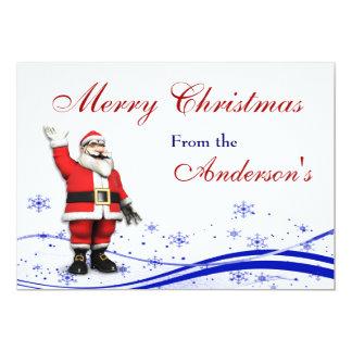Cartoon Santa Claus Christmas Greeting Card