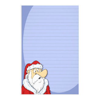 Cartoon Santa Claus Stationery (Ruled)