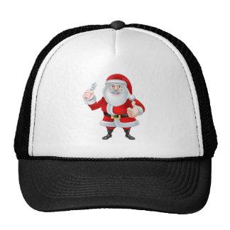 Cartoon Santa Holding a Spanner Trucker Hat