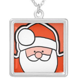 Cartoon Santa Holiday Necklace