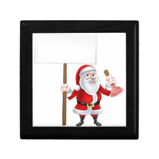 Cartoon Santa Plumber Gift Boxes