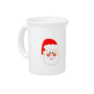 cartoon santa red christmas kids beverage pitcher