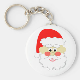 cartoon santa red christmas kids keychain