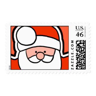 Cartoon Santa Stamp