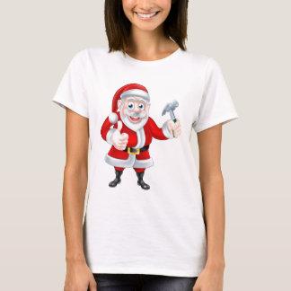 Cartoon Santa Thumbs Up and Holding Fork T-Shirt