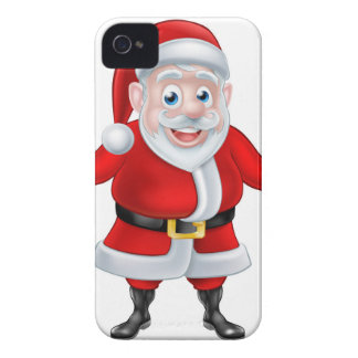 Cartoon Santa Thumbs Up and Holding Wrench Spanner iPhone 4 Cases