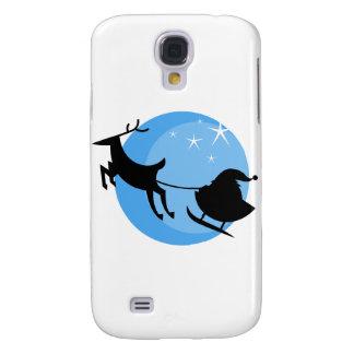 Cartoon Santa's Sleigh Samsung Galaxy S4 Covers