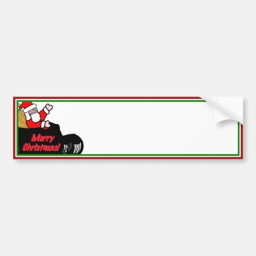Sleigh Ride Cartoon Cartoon santa's sleigh ride bumper sticker. thanks ...