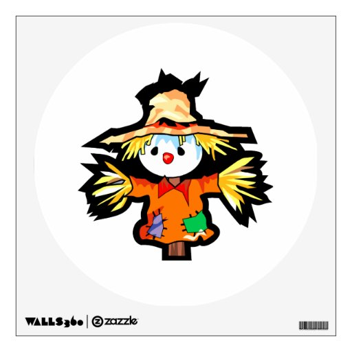 Scarecrow wall decals amp scarecrow wall stickers for any room zazzle