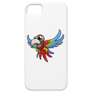Cartoon Scarlet Macaw iPhone 5 Cases