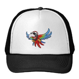 Cartoon Scarlet Macaw Trucker Hat