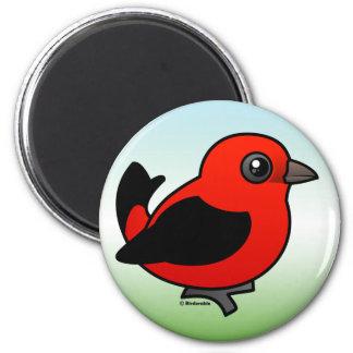 Cartoon Scarlet Tanager Magnet