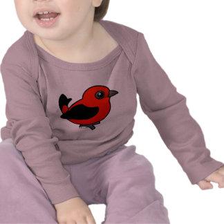 Cartoon Scarlet Tanager Tee Shirts