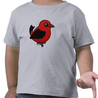 Cartoon Scarlet Tanager Shirt