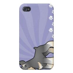 Case Savvy iPhone 4 Matte Finish Case with Miniature Schnauzer Phone Cases design