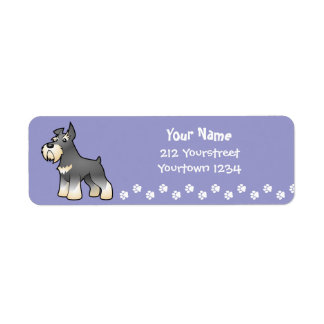 Cartoon Schnauzer Label