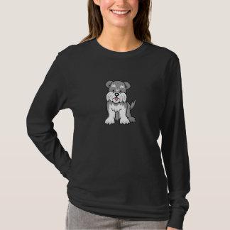 Cartoon Schnauzer Long Sleeve T-Shirt