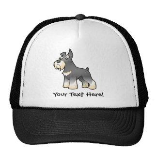 Cartoon Schnauzer Trucker Hat