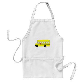 Cartoon School Bus Apron