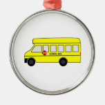 Cartoon School Bus Ornament