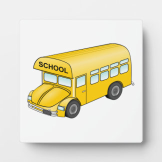 Cartoon School Bus Plaque