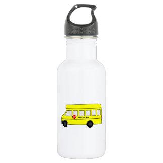 Cartoon School Bus Water Bottle