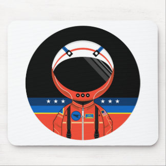 Cartoon Science Fiction Spaceman Mouse Pad