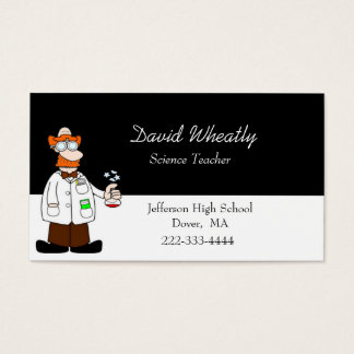 Cartoon Science Teacher Business Card