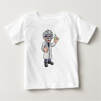 Cartoon Scientist Holding Test Tube Baby T-Shirt