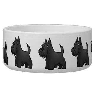 Cartoon Scottish Terrier Bowl